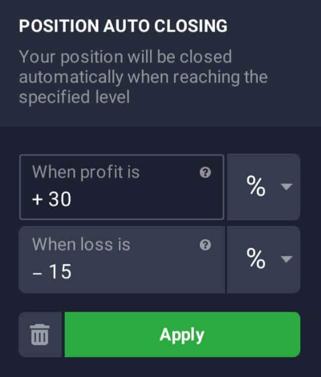 วิธีใช้ Stop Loss และ Take Profit ใน IQ Option